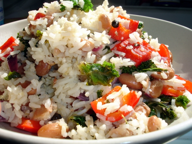 curly-kale-rice-and-beans
